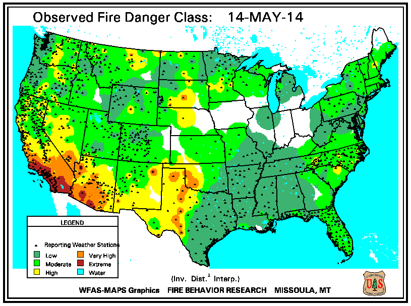National Fire Danger Map Pprfd